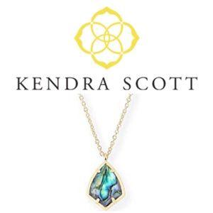 Kendra Scott Kiri Necklace Abalone Gold Chain